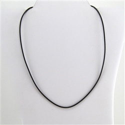 "Black Leather 16"" Cord Necklace"