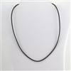 "Black Leather 20"" Cord Necklace"