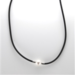 Single White Pearl Choker Necklace