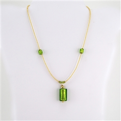 Handcrafted Murano Glass Beads and Pendant Necklace