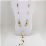 Murano Glass and Crystal Beaded Necklace