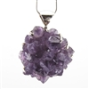 Large Amethyst Sterling Silver Pendant