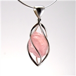 Rose Quartz in Sterling Silver Pendant