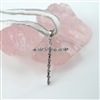 Medium Cubic Zirconia Silver Cross Pendant