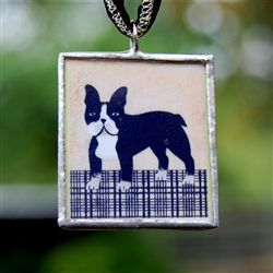 Boston Terrier Vintage-Style Retro Pendant