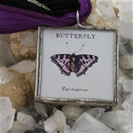 Vintage Butterfly Print Pendant