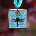 Dragonfly Vintage-Style Pendant