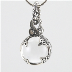 Sterling Silver Wrapped Crystal Ball Pendant