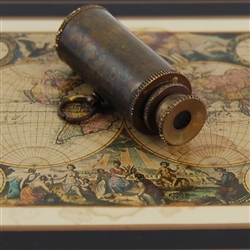 Antiqued Brass Telescope Pendant