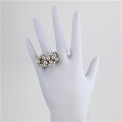 Silver Bead Stretch Ring