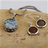 Roman Glass and Roman Coin Necklace and Earrings Set
