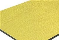 Aluminum Composite Panel - Brush Aluminum Gold