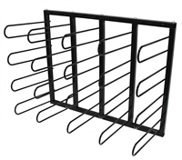 Vinyl Roll Wall Mount Storage Rack - 20 Rolls