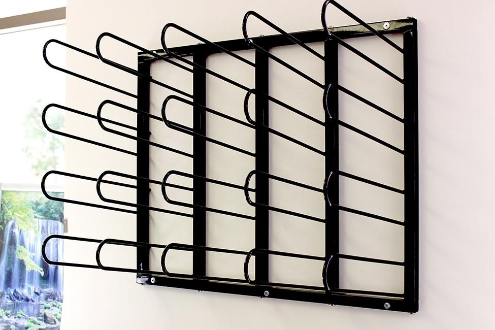 Vinyl Roll Wall Mount Storage Rack Heavy Duty 20 Rolls
