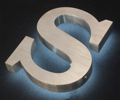 Fabricated Metal Letter Signs - Halo/ Back Lit