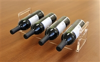 4-Slot Acrylic Wine Display Rack