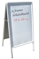 A Frame Wood White Marker Board