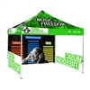 10 ft Pop Up Canopy Tent Back Wall & 2x Sidewalls With Print