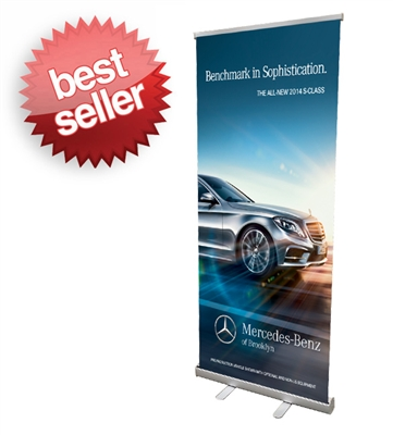 "Retractable Roll Up Banner Stand 33"" Stand Only"
