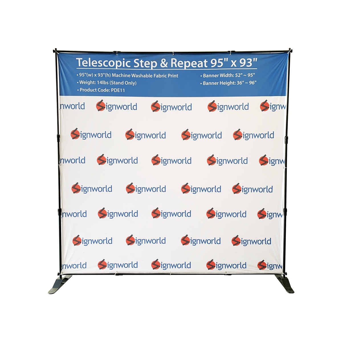 Telescopic Step Amp Repeat Banner Stand 8ft Stand Only
