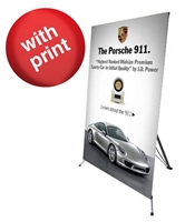"Large X Banner Stand 48"" x 78"" with Vinyl Print"
