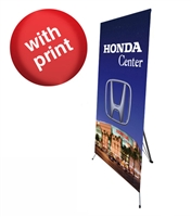 "Medium  X Banner Stand 32"" x 72"" with Vinyl Print"