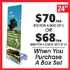 Outdoor X Banner Stand Water Base - Stand Only [BOX SET OF 1]