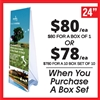 Double Sided Outdoor X Banner Stand Water Base - Stand Only [BOX SET OF 1]