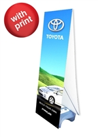 "Double Sided Outdoor X Banner Stand Water Base with (2) 24"" x 57"" Vinyl Prints"