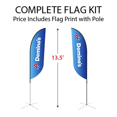 Medium Double-Sided Feather Flag Kit