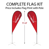 Medium Tear Drop Flag Kit