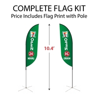 Small Feather Flag Kit
