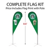 Small Double-Sided Tear Drop Flag Kit