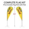 Small Tear Drop Flag Kit