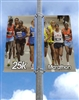 "Street Pole Banner Brackets 30"" Double Set with (2) 30"" x 48"" Vinyl Banners"