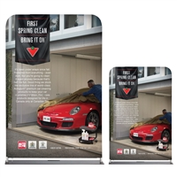 4 Ft Straight Tube Display With Double Sided Fabric Print