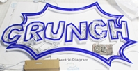 "Blue Acrylic Faux Neon Letters for Indoor & Outdoor Signage - 39""W X 26""H"