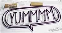 "Purple Acrylic Faux Neon Letters for Indoor & Outdoor Signage - 39""W X 19"""