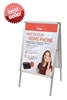 A-Frame Snap-Open Sidewalk Poster Stand - Stand Only