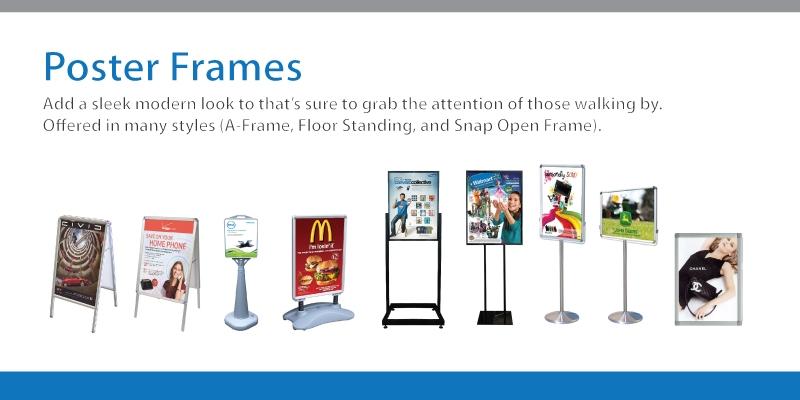 Poster Frames, Stands & Holders - Signworld America