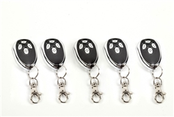 Lot of Five Remote Control Transmitters for ALEKO AC1400, AR1400, AC2000, AR2000 Gate Opener