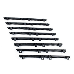 Nylon Gear Rack Fiber-Glass Reinforced With Metal Insert 2.23 Ft each, 8pcs