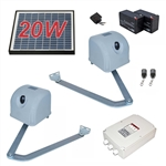 Articulated Gate Opener for Dual Swing Gates - AA1100 - Solar Kit 20W - ALEKO