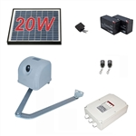 Articulated Gate Opener for Single Swing Gates - AA350 - Solar Kit 20W - ALEKO