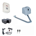 Articulated Gate Opener for Dual Swing Gates - AA700 - Back-up Kit ACC2 - ALEKO