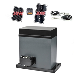 Solar Compatible Gear Driven Sliding Gate Opener - AR750 - Solar Kit - ALEKO