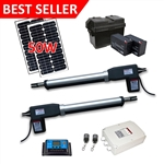 Dual Swing Gate Operator - AS1200 AC/DC - Solar Kit 50W - ALEKO