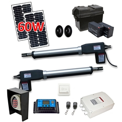 Dual Swing Gate Operator - AS1200 AC/DC - Solar Kit 60W - ALEKO