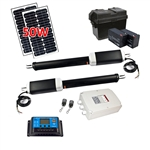 Dual Swing Gate Operator - AS1300 AC/DC - Solar Kit 20W - ALEKO