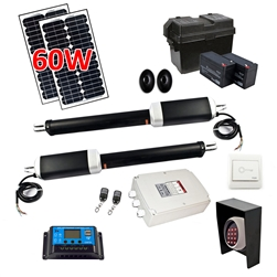 Dual Swing Gate Operator - AS1300 AC/DC - Solar Kit 60W - ALEKO